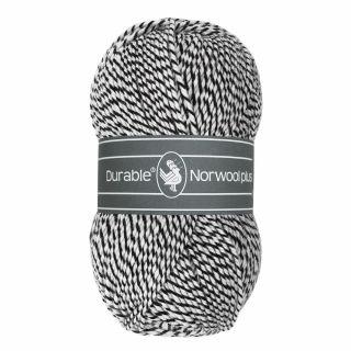 Durable Norwool Plus zwart wit melee M000