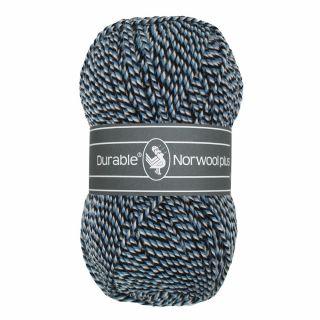 Durable Norwool Plus blauw zwart melee M00235