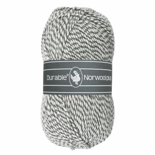 Durable Norwool Plus grijs wit melee M004
