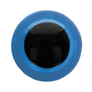 Veiligheidsoogjes 15 mm blauw - per 2 stuks