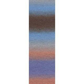 JAWOLL MAGIC DEGRADE lichtblauw/orange/bruin