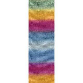 JAWOLL MAGIC DEGRADE multicolor lichtblauw/fuchsia/geel