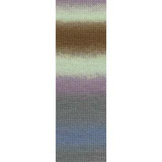 JAWOLL MAGIC DEGRADE bruin/grijs/lila