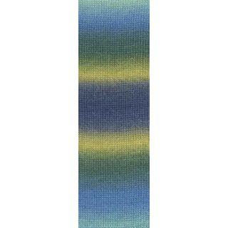 JAWOLL MAGIC DEGRADE blauw/groen/mosterd