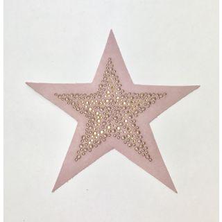 Applicatie Ster Rhinestones - oudroze - Restyle