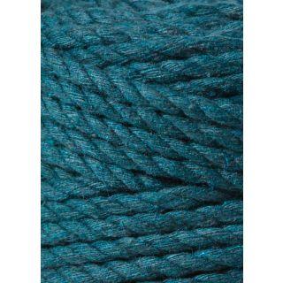 Bobbiny Macrame Triple Twist 5 mm - Peacock Blue
