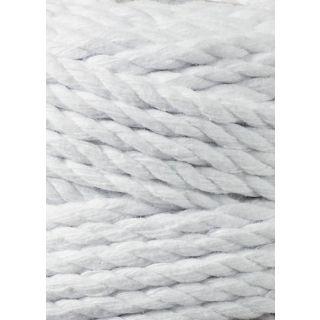 Bobbiny Macrame Triple Twist 5 mm - White