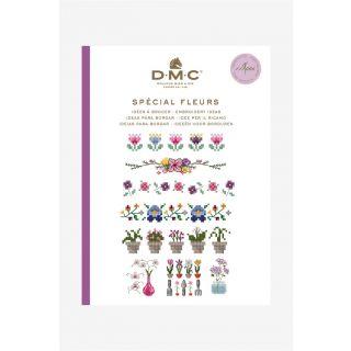 DMC borduurboekje Bloemen inclusief borduurgaren