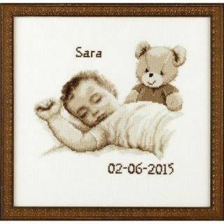 Geboortetegel Baby borduurpakket - Pako