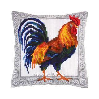 Kussen Haan Gallic rooster - borduurpakket Collection d'Art