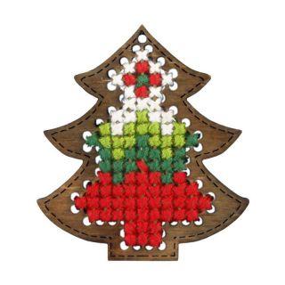 Borduurpakket Kerstboom ornament - Orchidea