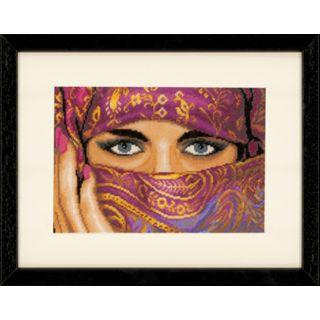 Borduurpakket Gesluierde vrouw (Veiled Woman) Aida - Lanarte