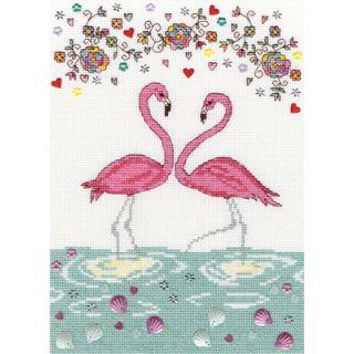 Borduurpakket Love Flamingo - Bothy Threads