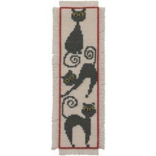Borduurpakket Bladwijzer Katten - Permin