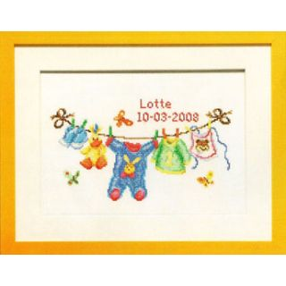 Geboortetegel Waslijn borduurpakket - Pako