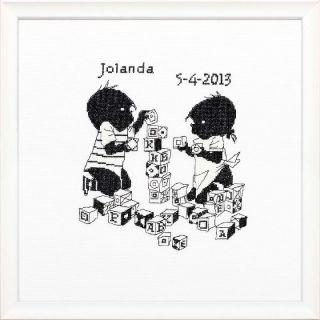 Geboortetegel Jip & Janneke Blokken - Pako