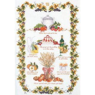 Borduurpakket Culinaire Merklap Aida - Thea Gouverneur