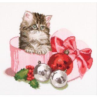 Borduurpakket Kerstkitten - Thea Gouverneur