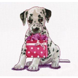 Borduurpakket Puppy Went shopping - Thea Gouverneur