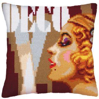Kussen borduurpakket Art Deco II - Collection d'Art