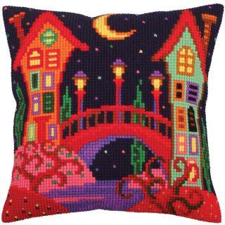 Kussen borduurpakket Bridge to Fairy Tale - Collection d'Art