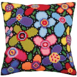 Kussen borduurpakket Flower Glade  - Collection d'Art