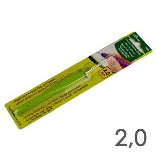Haaknaald Clover Amour Groen 2,0 mm