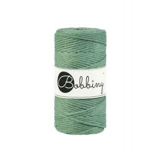 Bobbiny Macrame Triple Twist 3 mm - Eucalyptus Green