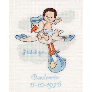 Borduurpakket It's a Boy geboortetegel  - Thea Gouverneur