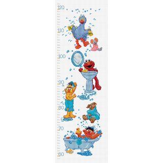 Borduurpakket Sesamstraat Groeimeter  - Thea Gouverneur