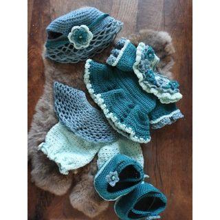 Haakpakket Funny Bunny XXL kledingset - Fleury blauw - groen