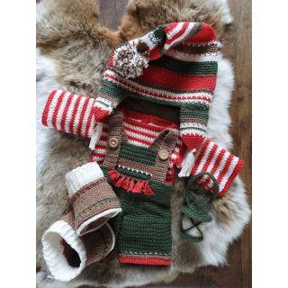 Haakpakket Funny XXL kledingset - Kerst classic jongen