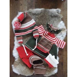 Haakpakket Funny XXL kledingset - Kerst classic meisje