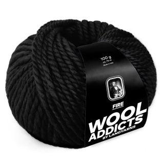 Lang Yarns Wooladdicts Fire - 004 black