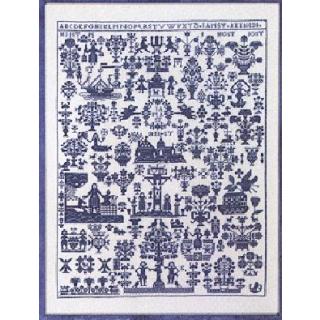 Permin Blauwe Merklap Anno 1830 Borduurpakket