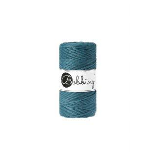 Bobbiny Macrame Triple Twist 3 mm - Peacock Blue