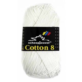 Scheepjeswol Cotton 8 - 502 wit
