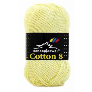Scheepjeswol Cotton 8 lichtgeel 508