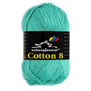 Scheepjeswol Cotton 8 licht blauwgroen 665